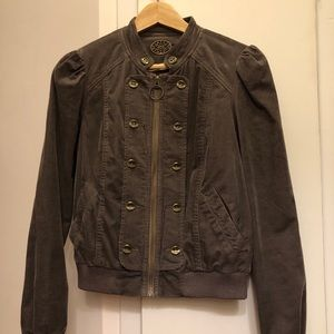 Anthropologie grayish purple corduroy jacket